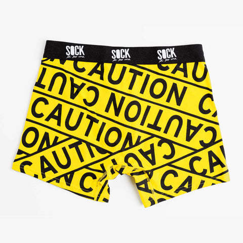 Sock It To Me Men's Underwear - Caution Tape - Large