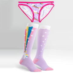 Sock It To Me Women's Underwear and Sock Pack - Rainbow Blast - Large