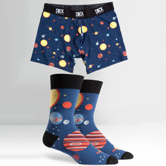 Sock It To Me Men's Underwear and Sock Pack - Planets - Large