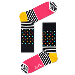 Happy Socks Women's Crew Socks - Stripes and Dots