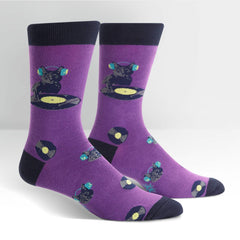 Sock It To Me Men's Crew Socks - Cat Scratch