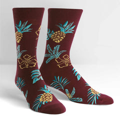 Sock It To Me Men's Crew Socks - Hawaiian Sock Day
