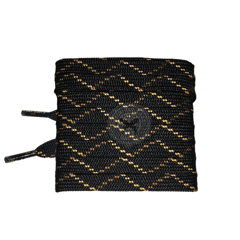 Mr Lacy Hikies Flat - Black/Brown/Light Brown Shoelaces 150cm