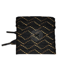 Mr Lacy Hikies Flat - Black/Brown/Light Brown Shoelaces 180cm