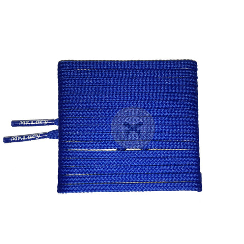 Mr Lacy Goalies Slim - Royal Blue Football Shoelaces