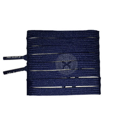 Mr Lacy Runnies Flat - Navy Shoelaces [80cm]