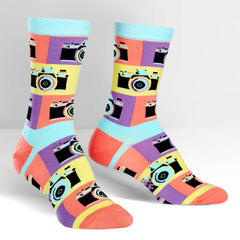 Sock It To Me Women's Crew Socks - Say Cheese!