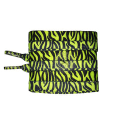Mr Lacy Printies - Neon Lime Yellow Zebra Shoelaces