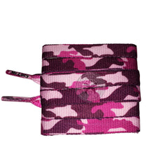 Mr Lacy Printies - Pink Camo Shoelaces