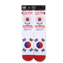Odd Sox Unisex Crew Socks - South Korea