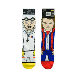 Odd Sox Men's Crew Socks - Doc & Marty (Back to the Future)