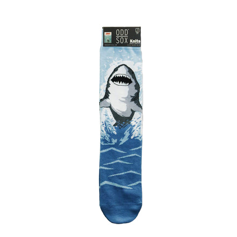 Odd Sox Men's Crew Socks - Great White (Jaws)