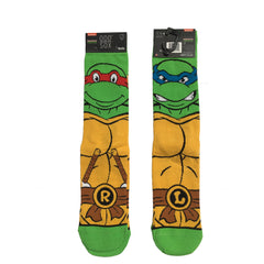 Odd Sox Men's Crew Socks - Retro Turtles (TMNT)