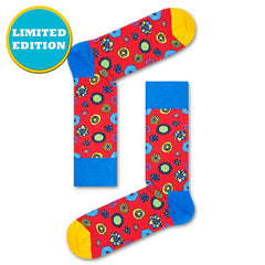 Happy Socks x The Beatles Men's Crew Socks - Flower Power (50th Anniversary)