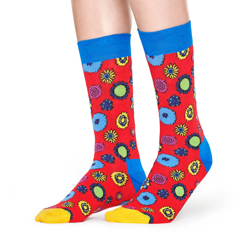 Happy Socks x The Beatles Women's Crew Socks - Flower Power (50th Anniversary)