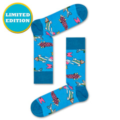 Happy Socks x The Beatles Women's Crew Socks - Fish & Whales (50th Anniversary)