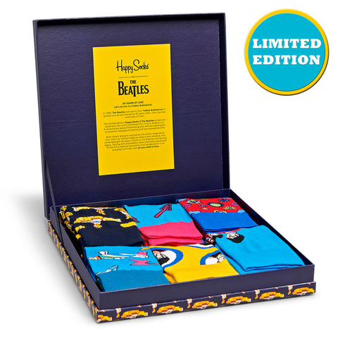 Happy Socks x The Beatles Women's LP Collection - 6 Pack (50th Anniversary)
