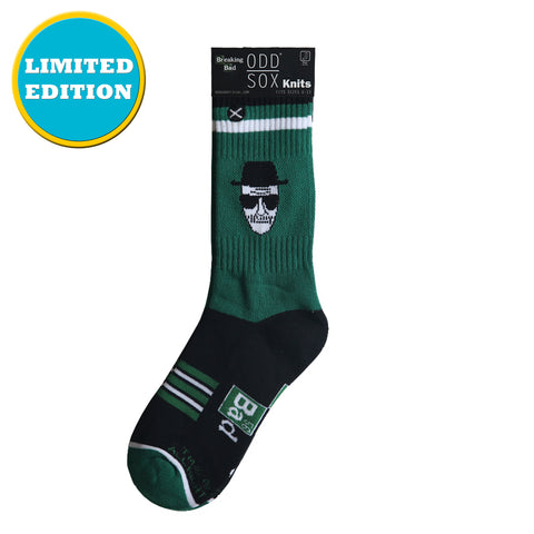 Odd Sox Men's Crew Socks - Who Is Heisenberg? (Breaking Bad)