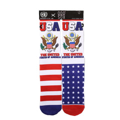 Odd Sox Men's Crew Socks - United States of America