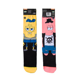 Odd Sox Men's Crew Socks - Spongebob Hipsters