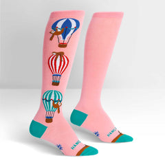 Sock It To Me Women's Knee High Socks - Hang In There