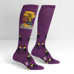 Sock It To Me Women's Knee High Socks - Cleo-catra!