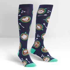 Sock It To Me Women's Knee High Socks - Barista Artista