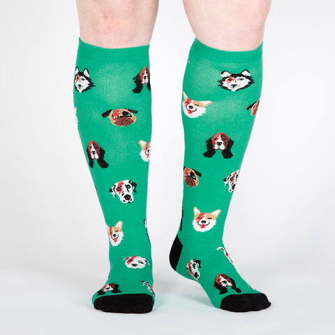 Sock It To Me Women's Knee High Socks - Dogs of Rock