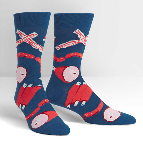 Sock It To Me Men's Crew Socks - Nice to Meat you