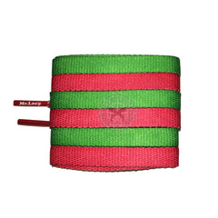 Mr Lacy Clubbies - Kelly Green & Red Two Tone Shoelaces