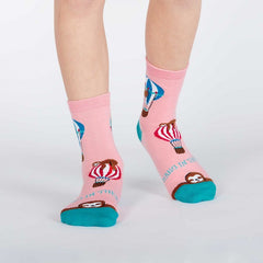 Sock It To Me Kids Crew Socks - Hang In There (7-10 Years Old)