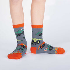 Sock It To Me Kids Crew Socks - Monster Trucks (7-10 Years Old)