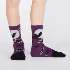 Sock It To Me Kids Crew Socks - Batnado (Glow in the Dark - 7-10 Years Old)