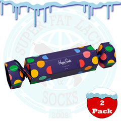 Happy Socks Women's Big Dot Cracker Gift Box - 2 Pack