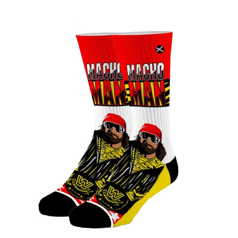 Odd Sox Unisex Crew Socks - King of the Ring (WWE)