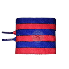 Mr Lacy Clubbies - Royal Blue & Red Two Tone Shoelaces