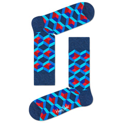 Happy Socks Men's Crew Socks - Optic Square
