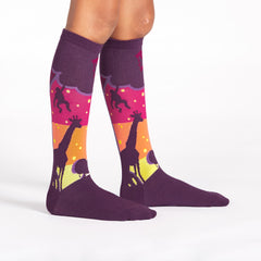 Sock It To Me Kids Knee High Socks - Sunset Safari (7-10 Years Old)