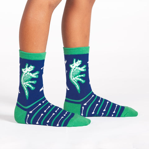 Sock It To Me Kids Crew Socks - Arch-eology (Glow in the Dark - 7-10 Years Old)