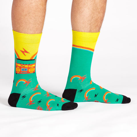 Sock It To Me Men's Crew Socks - Roller Disco