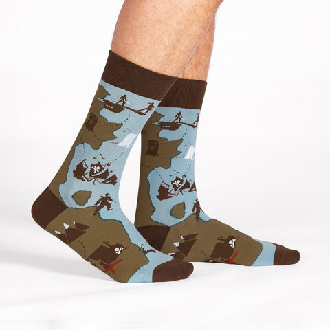 Sock It To Me Men's Crew Socks - X Marks the Spot