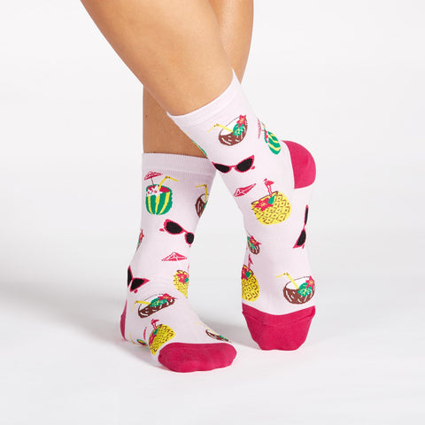 Sock It To Me Women's Crew Socks - Rum Away With Me