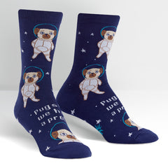Sock It To Me Women's Crew Socks - Pugston, We Have a Problem