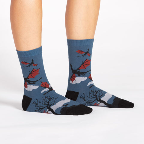 Sock It To Me Women's Crew Socks - Twilight Flight
