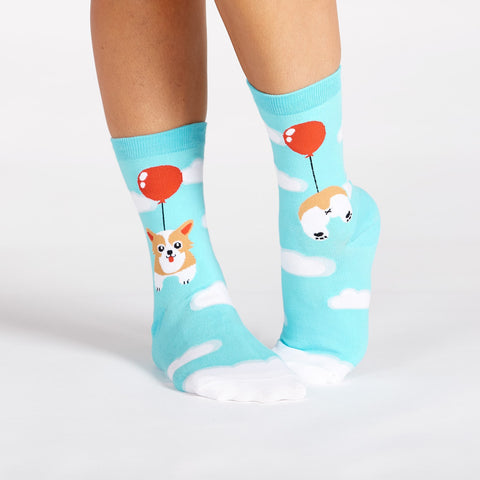 Sock It To Me Women's Crew Socks - Pup, Pup and Away