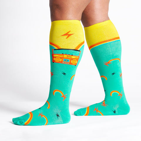 Sock It To Me STRETCH-IT Unisex Knee High Socks - Roller Disco