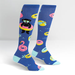 Sock It To Me Women's Knee High Socks - Summer Puggin'