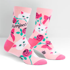Sock It To Me Women's Crew Socks - You're Purrfect