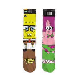 Odd Sox Men's Crew Socks - Spongebob Nerd Pants
