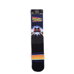 Odd Sox Men's Crew Socks - Back In Time (Back to the Future)